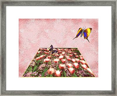 Flowerbed Of Tulips Framed Print