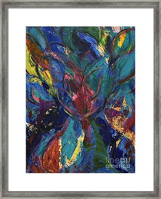 Flowerburst Framed Print by Sabra Chili