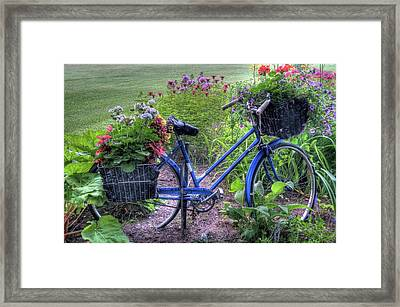 Flowered Bicycle Framed Print