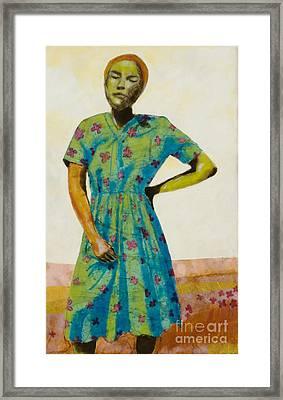 Flowered Dress Framed Print