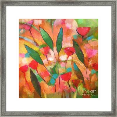 Flowerflow Framed Print