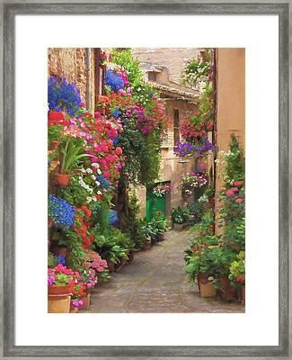 Flower Alley Italy Framed Print