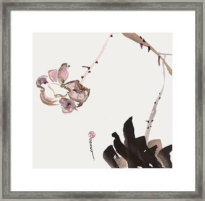 Flowering Alone Framed Print
