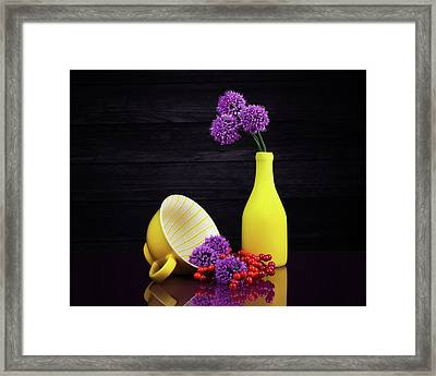 Flowering Onion With Yellow Framed Print