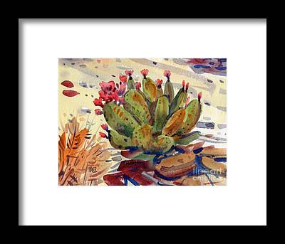 Prickly Pear Cactus Framed Prints