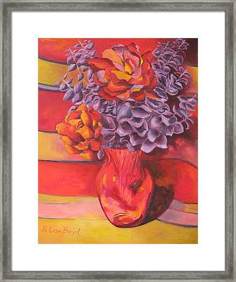 Flowering Orange Framed Print by Lisa Boyd