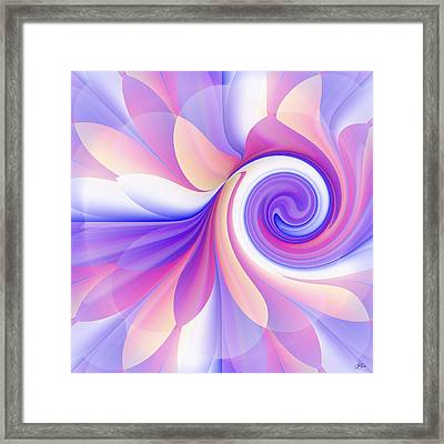 Flowering Pastel Framed Print
