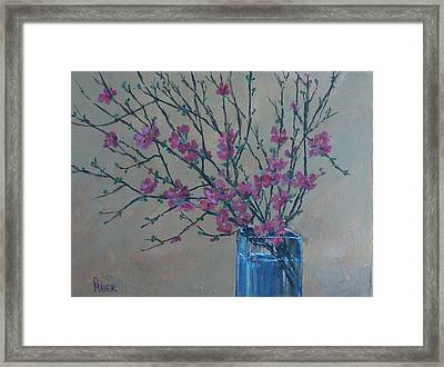 Flowering Quince Framed Print by Pete Maier