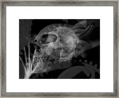 Flowering Skull Fossil Rewire Framed Print by Leigh Odom