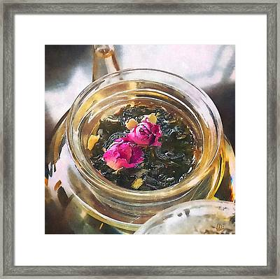 Flowering Tea  Framed Print by Stacey Chiew