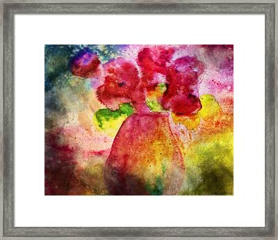 Flowering Watercolour Framed Print