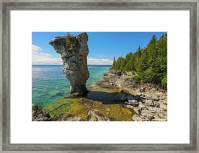 Flowerpot Island - Ontario Canada Framed Print