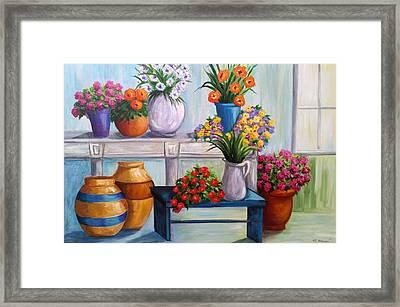 Flowerpots Framed Print