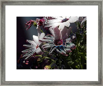 Framed Print featuring the digital art Flowers by Stuart Turnbull