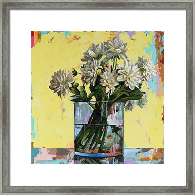 Framed Print featuring the painting Flowers #19 by David Palmer