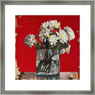 Framed Print featuring the painting Flowers #4 by David Palmer