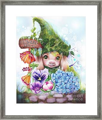 Flowers 4 Sale - Garden Whimzies Collection Framed Print