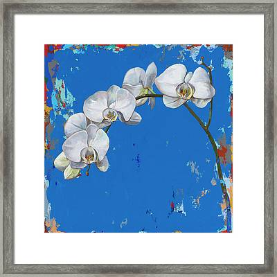 Framed Print featuring the painting Flowers #9 by David Palmer