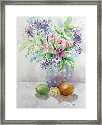 Flowers And Fruit Framed Print by Bobbi Price