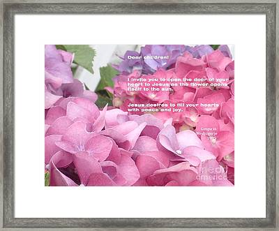 Flowers And Joy  Framed Print