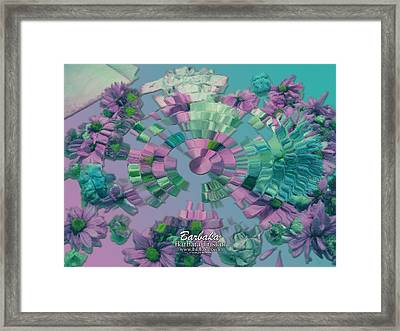 Framed Print featuring the photograph Flowers And Paper by Barbara Tristan
