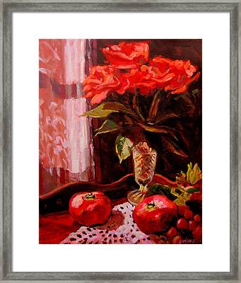 Flowers And Poms Framed Print by Brian Simons