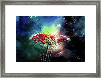 Framed Print featuring the painting Flowers by Anil Nene