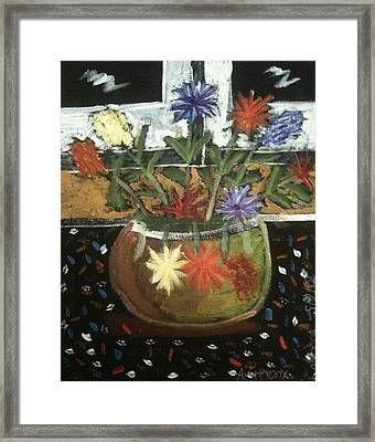Flowers Framed Print by Artists With Autism Inc