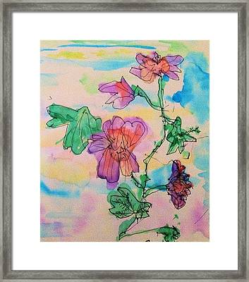 Flowers Are Blooming  Framed Print