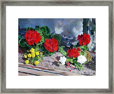 Flowers At Church Framed Print by Scott Robertson
