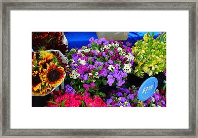 Flowers At Union Station Market Framed Print