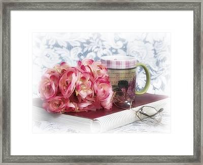 Flowers At Work Framed Print
