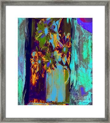 Flowers Beneath A Bleeding Sun Framed Print
