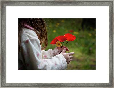 Framed Print featuring the photograph Flowers by Bruno Spagnolo