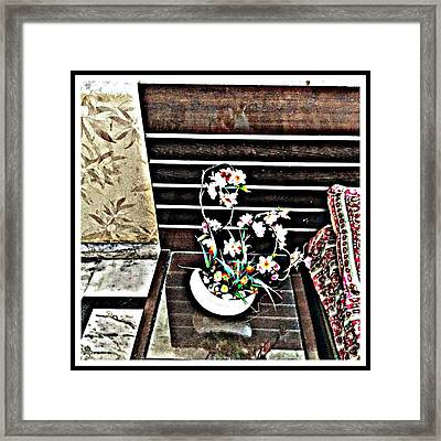 Flowers By My Side Framed Print