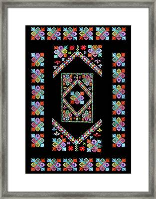 Flowers Design Framed Print by Munir Alawi