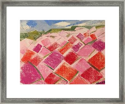 Framed Print featuring the pastel Flowers Fields by Norma Duch