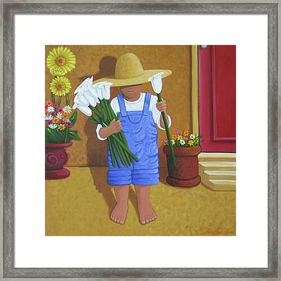 Flowers For A Friend Framed Print