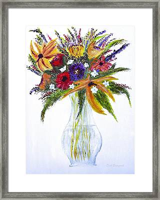 Flowers For An Occasion Framed Print by Dick Bourgault