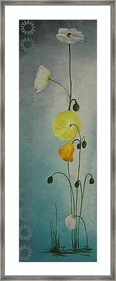 Framed Print featuring the painting Flowers For Everyone by Jane Autry