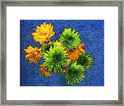 Flowers For Jessica Framed Print by Bobbie Barth