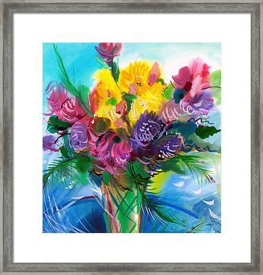 Flowers For My Jesus Framed Print by Karen Showell