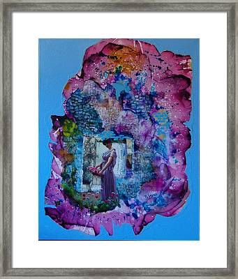 Flowers For My Love Framed Print by Sima Amid Wewetzer