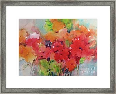 Flowers For Peggy Framed Print