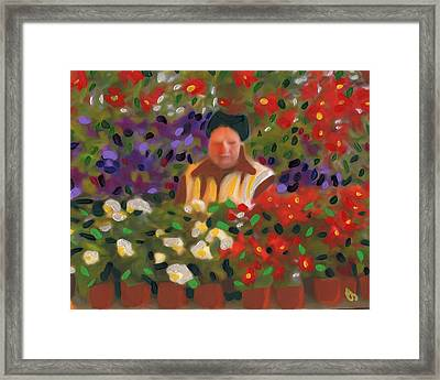 Flowers For Sale Framed Print