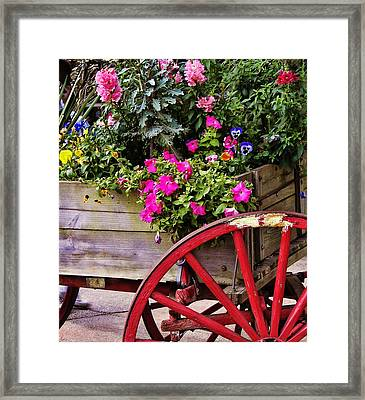 Flowers For Sale Framed Print by JAMART Photography