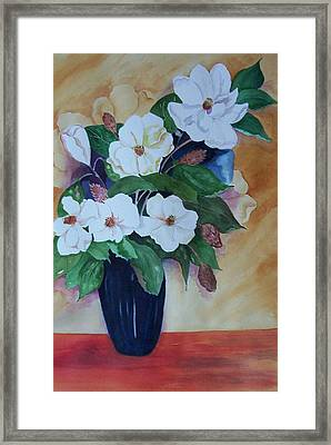 Flowers For The Table Framed Print by Audrey Bunchkowski