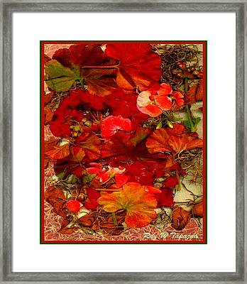 Framed Print featuring the mixed media Flowers For You by Ray Tapajna