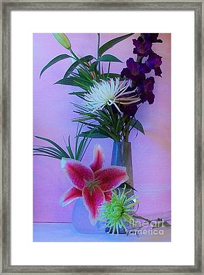 Flowers From My Daughter Framed Print by Marsha Heiken