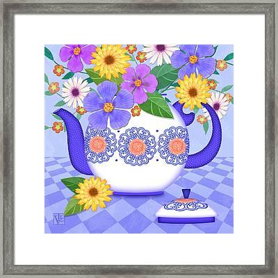 Flowers From My Garden Framed Print by Valerie Drake Lesiak